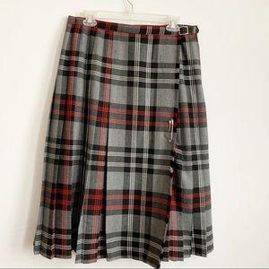Vintage D'Allaird's Plaid Black White Red Skirt 14